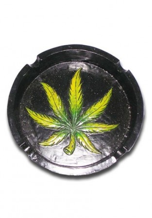 Ashtray Cannabis Leaf
