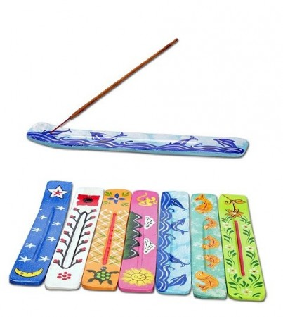 Wooden Incense Stick Holder Hand Painted