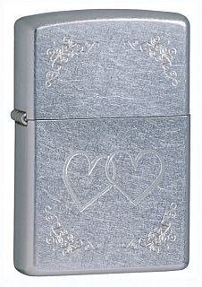 24016 HEART TO HEART STREET CHROME ZIPPO LIGHTER