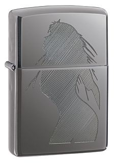 20762 SEDUCTIVE SILHOUETTE BLACK ICE ZIPPO LIGHTER