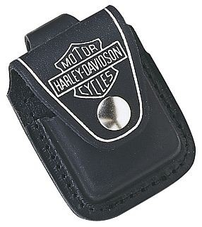 HDPBK H-D LIGHTER POUCH WITH LOOP BLACK ZIPPO LIGHTER