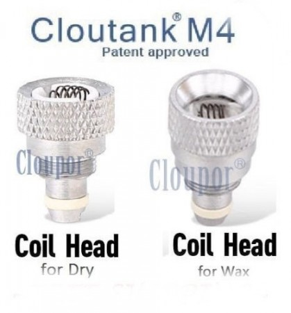 Authentic Cloupor Cloutank M4 Dry Herb Coil Head Replacement Parts