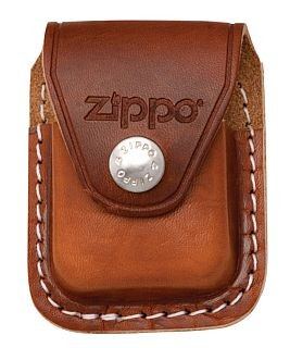 LPCB LIGHTER POUCH WITH CLIP BROWN ZIPPO LIGHTER