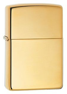 254B HIGH POLISH BRASS ZIPPO LIGHTER