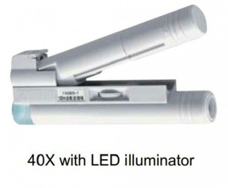 Diamond loupe with led illuminator