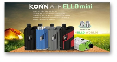 Eleaf iKonn Total with Ello Mini XL Full Kit W Battery - 5.5ml (TPD Compliance)