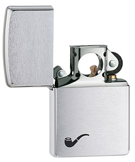 200PL PIPE LIGHTER BRUSHED CHROME ZIPPO LIGHTER